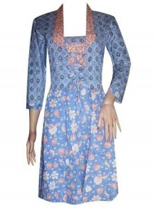 BJ-BTK-8639 DRESS BATIK KATUN BOLERO