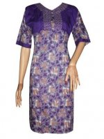 BJ-BTK-7158 DRESS BATIK KATUN KOMBINASI ROMPI
