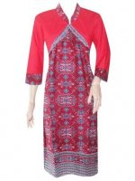 BJ-BTK-4848 DRESS BATIK KATUN MOTIF ASMAT