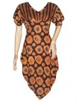 BJ-BTK-4953 DRESS BATIK PARIS MOTIF BUNGA
