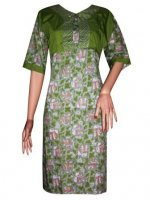 BJ-BTK-7157 DRESS BATIK KATUN KOMBINASI ROMPI