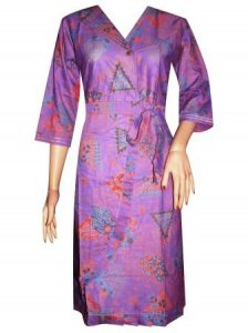 BJ-BTK-7430 DRESS BATIK KATUN REMPEL