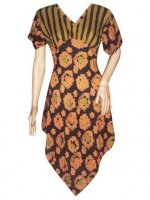 BJ-BTK-4954 DRESS BATIK PARIS MOTIF BUNGA