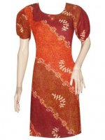 BJ-BTK-4945 DRESS BATIK PARIS MOTIF GRADASI