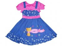 BJ-ANAK-343 DRESS ANAK BAHAN JEANS