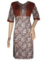 BJ-BTK-7159 DRESS BATIK KATUN KOMBINASI ROMPI