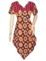BJ-BTK-4955 DRESS BATIK PARIS MOTIF BUNGA