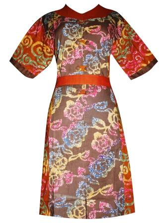 BJ-BTK-2836 DRESS BATIK KATUN CAP OLIVIA