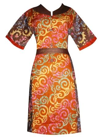 BJ-BTK-2837 DRESS BATIK KATUN CAP OLIVIA